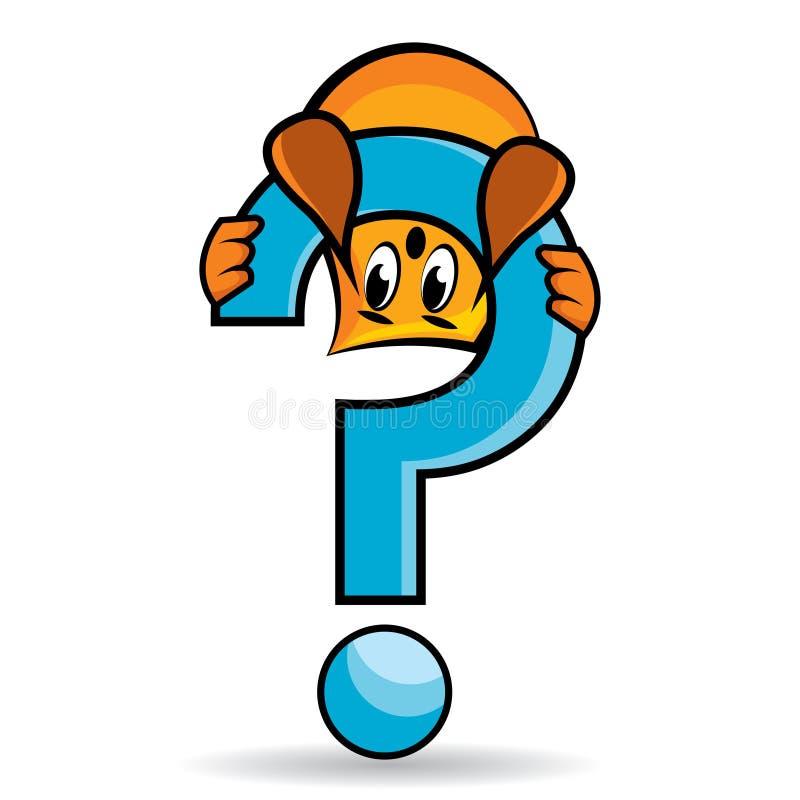 Personaje de dibujos animados - signo de interrogación libre illustration