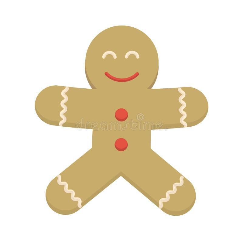Personaje de dibujos animados sonriente feliz de la galleta de la Navidad Alegre postule libre illustration