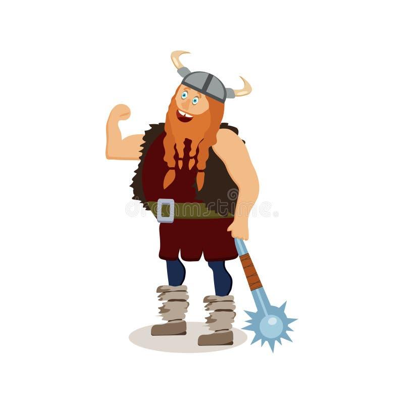 Personaje De Dibujos Animados De Viking Un MA Rojo-barbudo Presumido ...