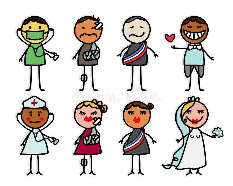 Personajes de dibujos animados libre illustration