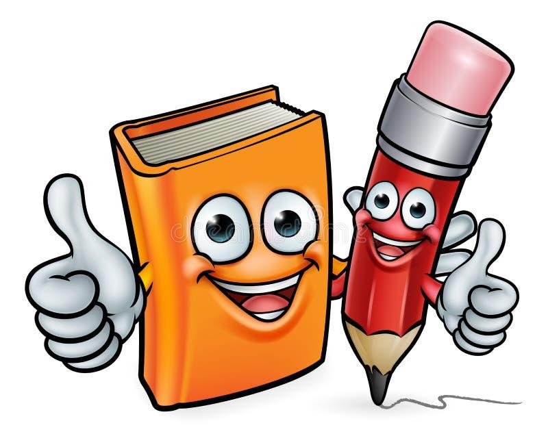 Personajes De Dibujos Animados Del Libro Y Del Lápiz