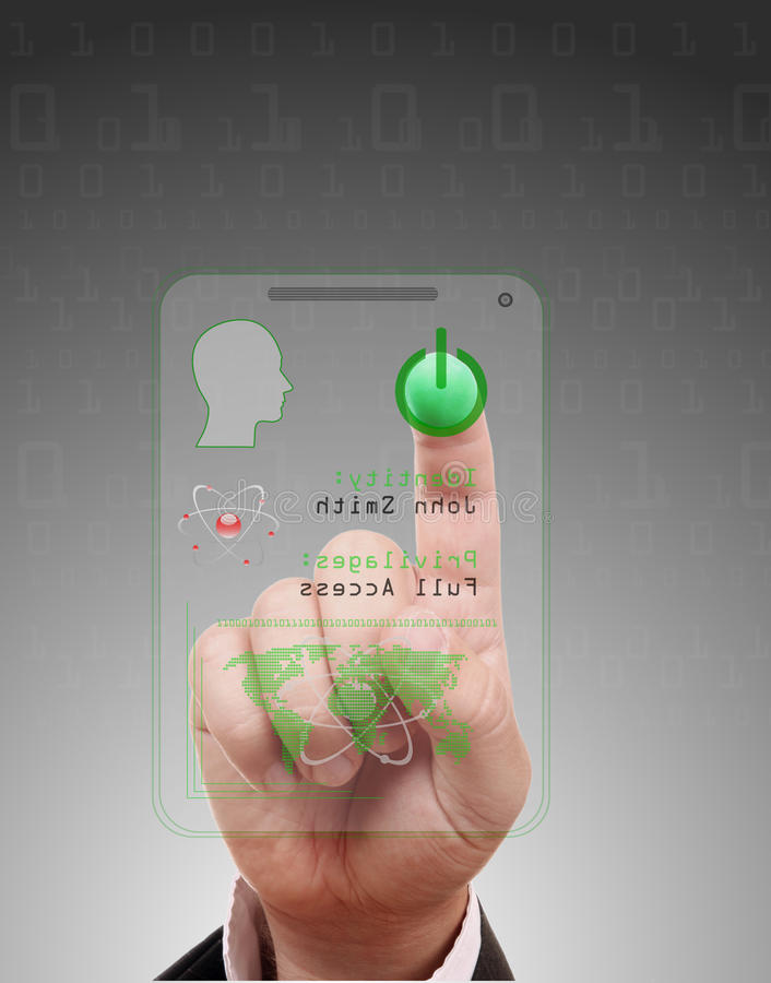 Download Personal access card stock photo. Image of biometrics - 28120390