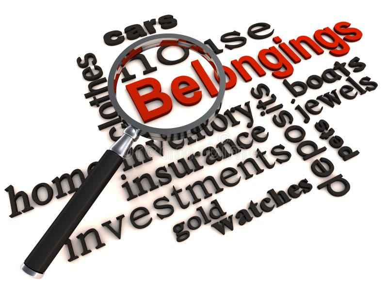 Download Personal belongings stock illustration. Image of property - 27053313