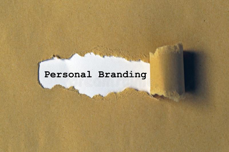 Personal branding royalty free stock images