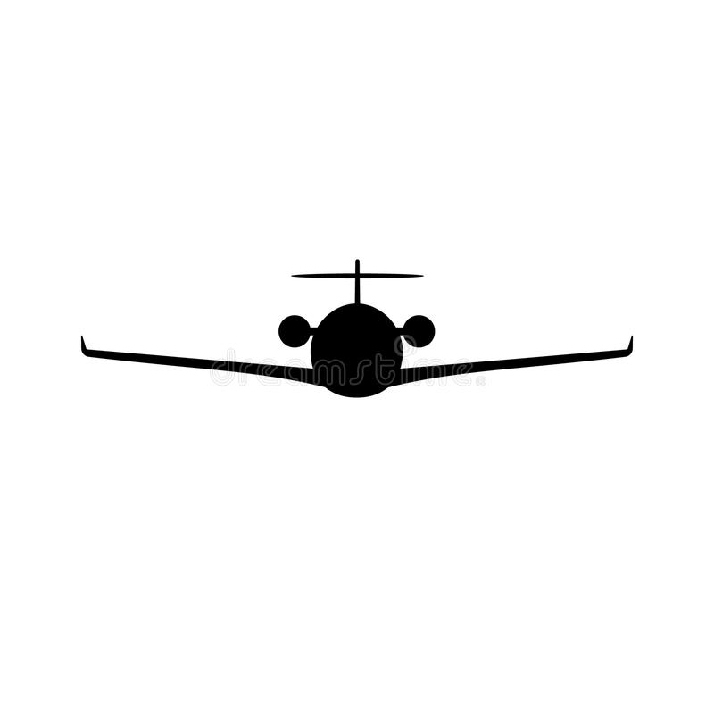 Personal business airplane silhouette royalty free illustration