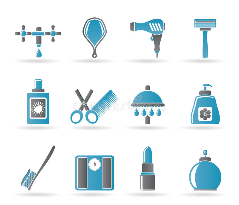 Download Personal Care And Cosmetics Icons Stock Vector - Illustration: 19382688