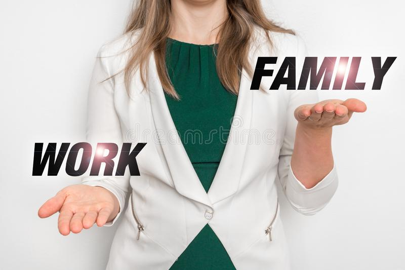 Personal choice between work and family royalty free stock photo