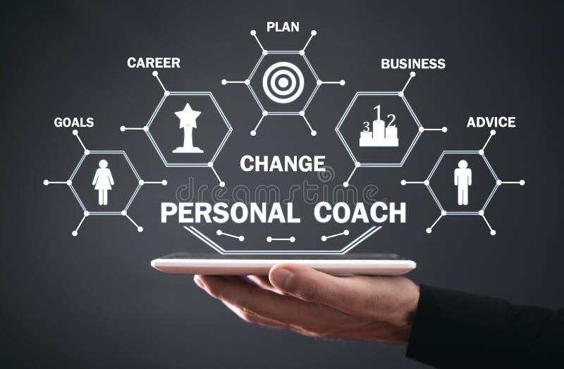 Personal Coach. Development and achievement. Business concept stock photos