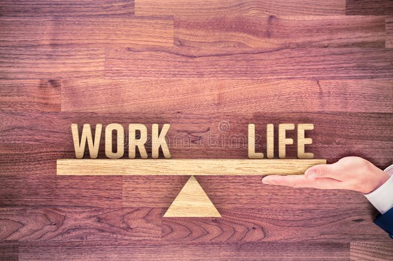 Personal coach helps with work life balance royalty free stock images