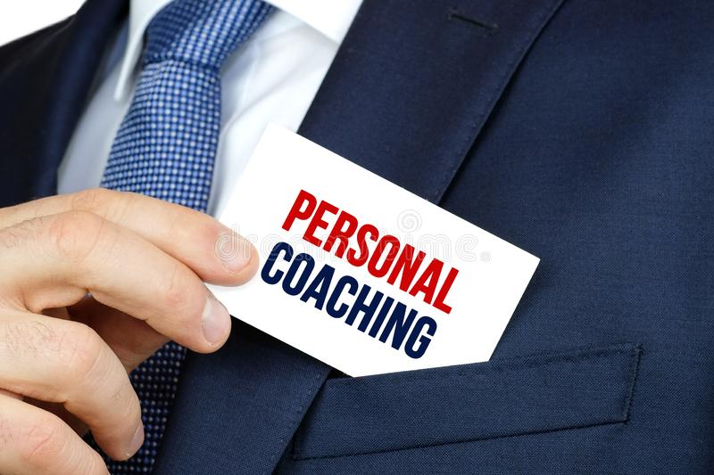 PERSONAL COACHING - Business advertising card stock photo