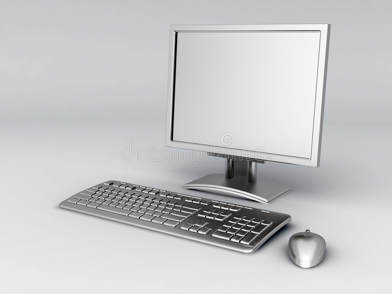 Download Personal computer stock illustration. Illustration of crystal - 8191012