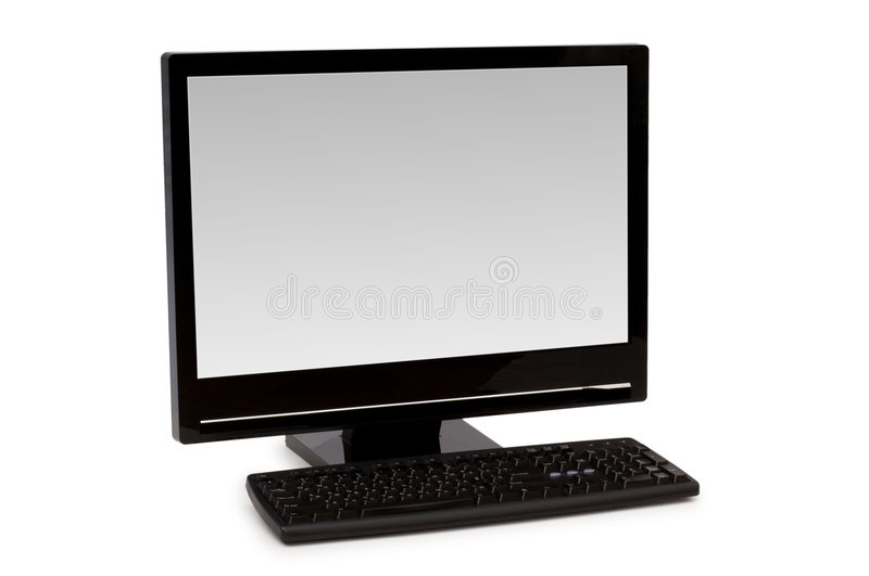 Download Personal computer isolated stock image. Image of white - 7027115