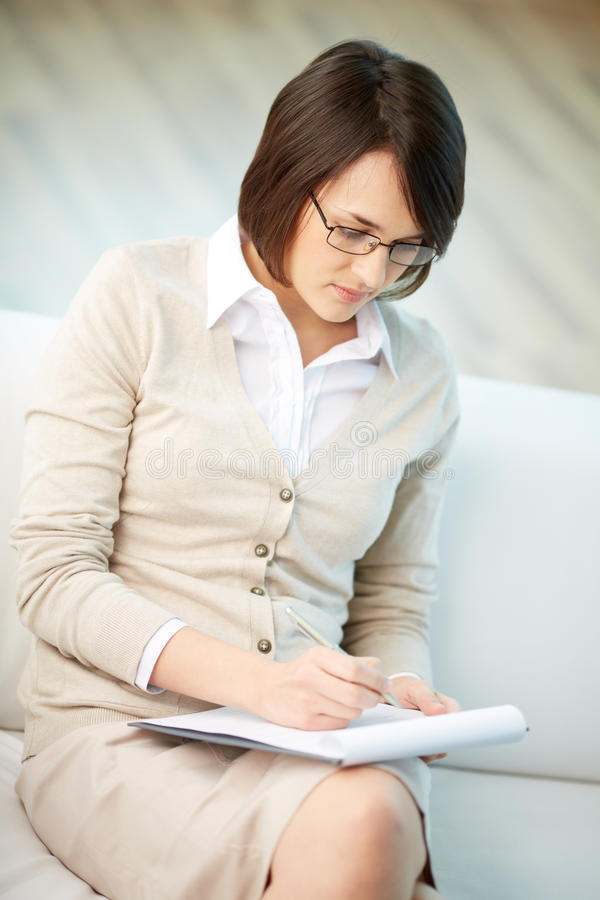 Personal counselor royalty free stock photography