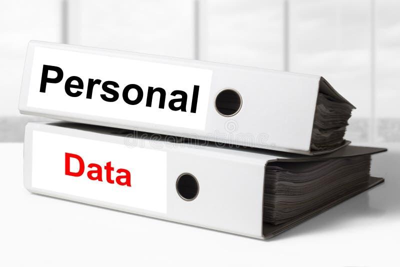 Personal data binder office stock photos