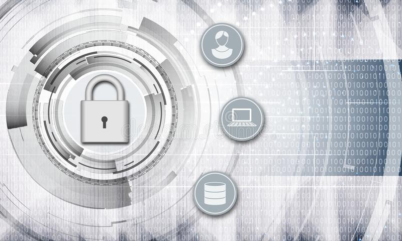 Personal data protection abstract background royalty free stock images