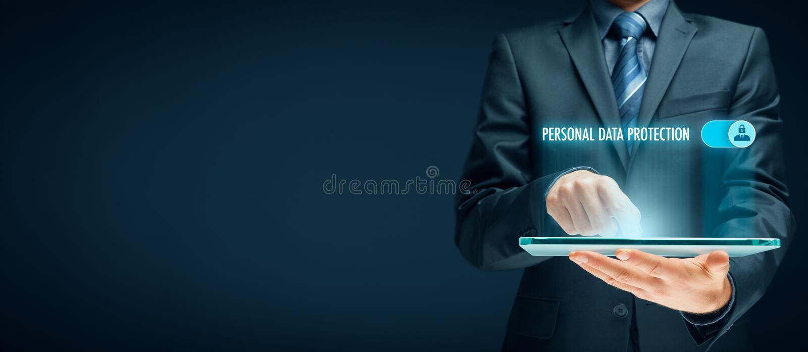 Personal data protection concept stock images