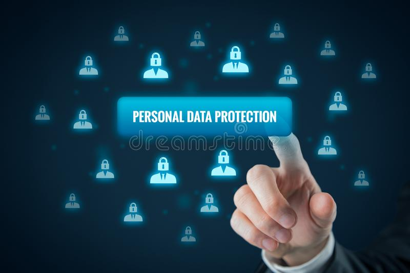 Personal data protection concept stock image