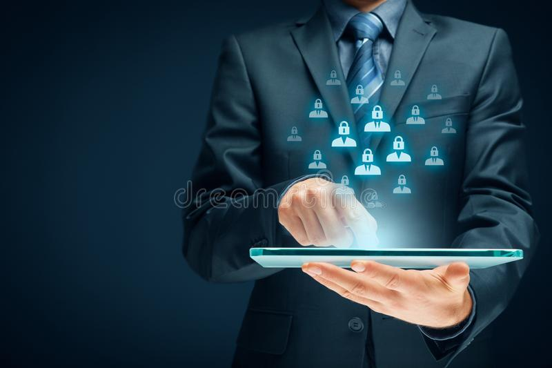 Personal data protection concept royalty free stock photography