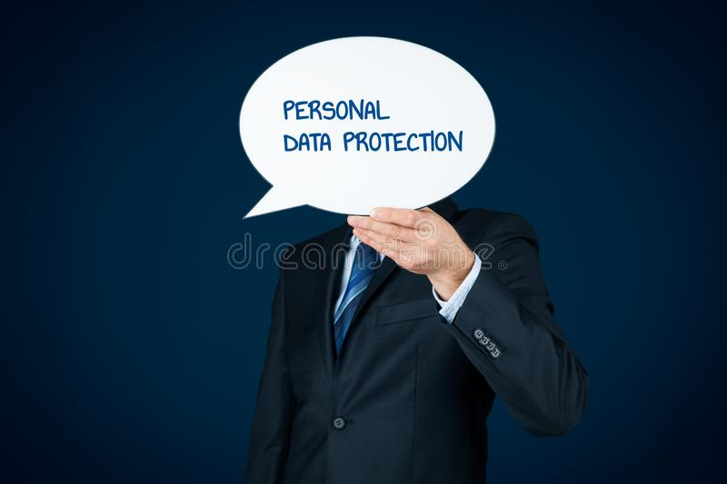 Personal data protection concept royalty free stock images