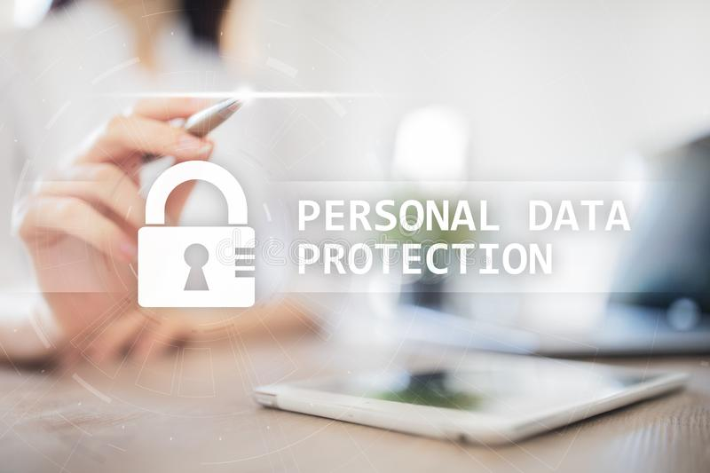Personal data protection, Cyber security and information privacy. GDPR. stock image