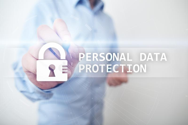Personal data protection, Cyber security and information privacy. GDPR. royalty free stock photography