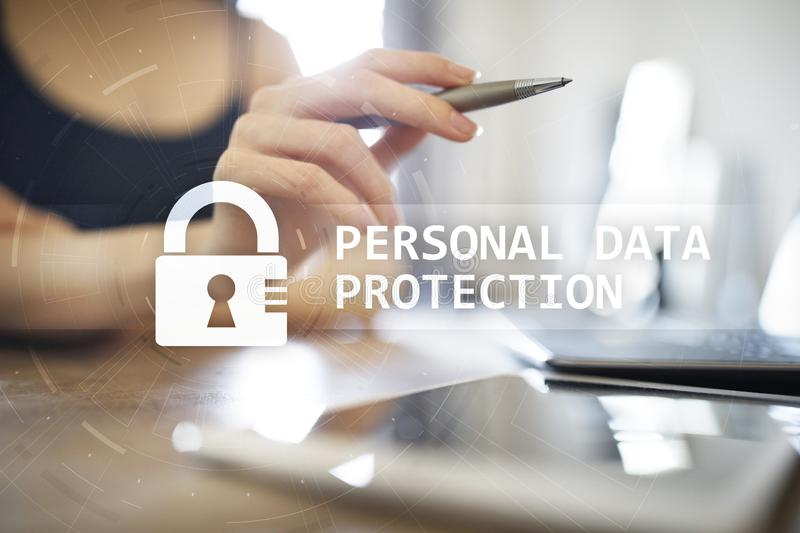 Personal data protection, Cyber security and information privacy. GDPR. stock images
