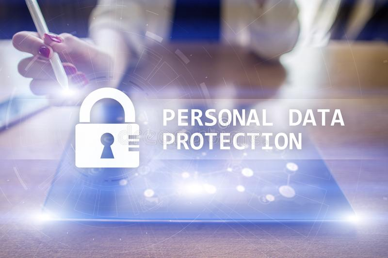 Personal data protection, Cyber security and information privacy. GDPR. stock photos
