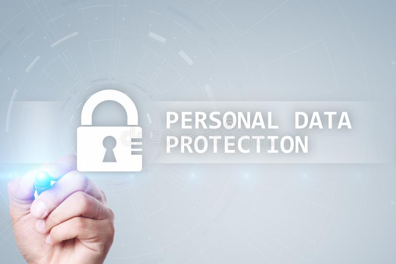 Personal data protection, Cyber security and information privacy. GDPR. royalty free stock image