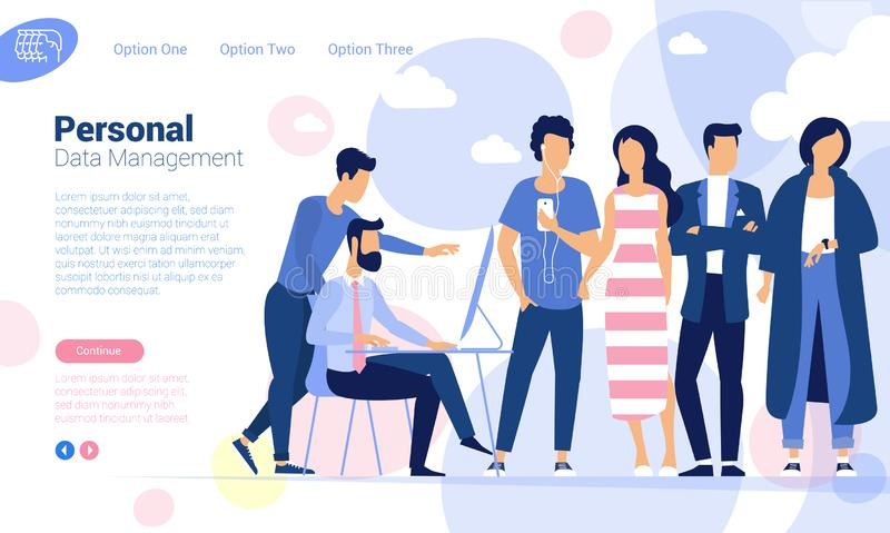 Personal data protection and management royalty free illustration