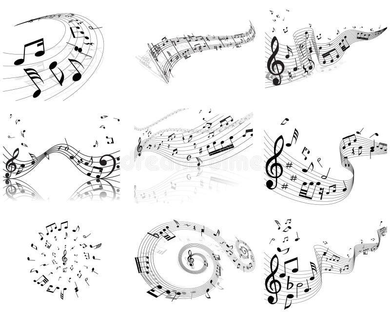 Personal de las notas stock de ilustración