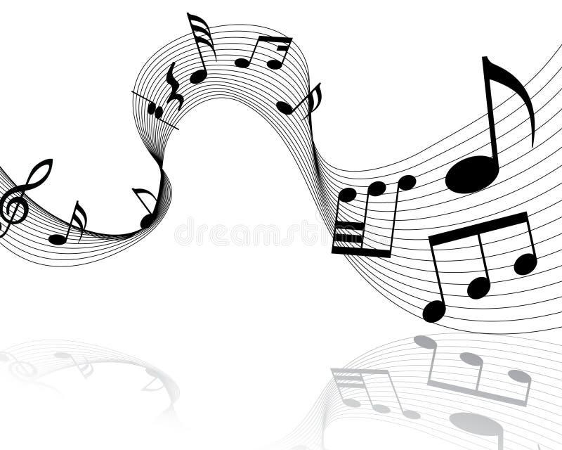 Personal de las notas musicales ilustración del vector
