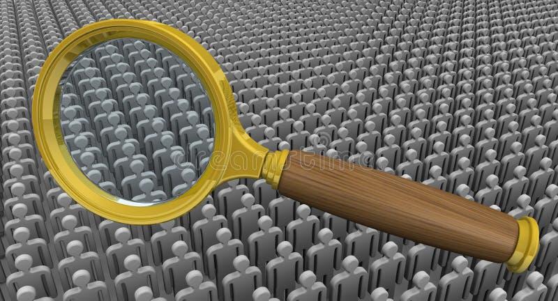 Personal der Einstellung (Suche) Konzept lizenzfreie abbildung