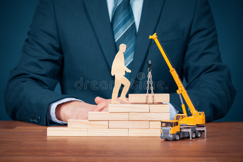 Personal development and career build stock photography