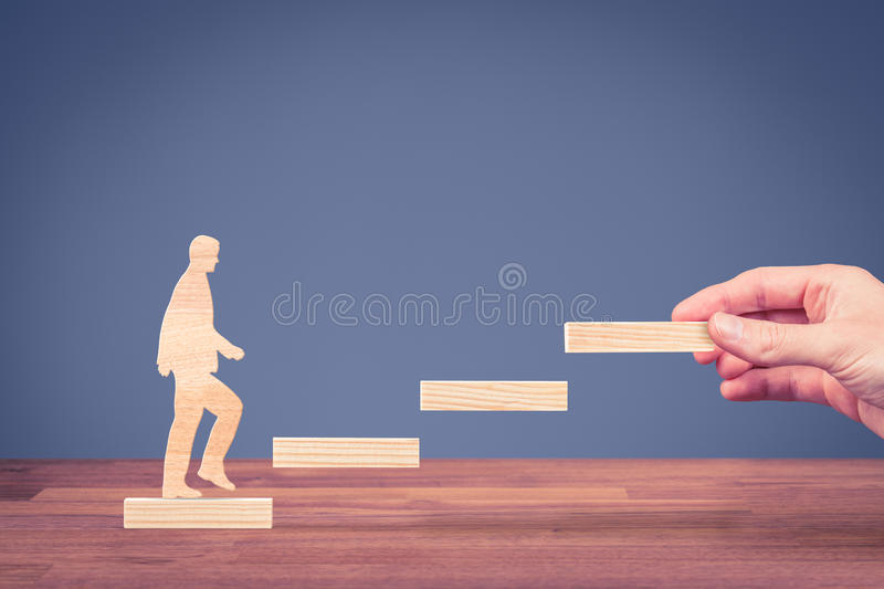 Personal development career. Personal development, personal and career growth, progress and potential concepts. Coach human resources officer, manager, mentor stock photos