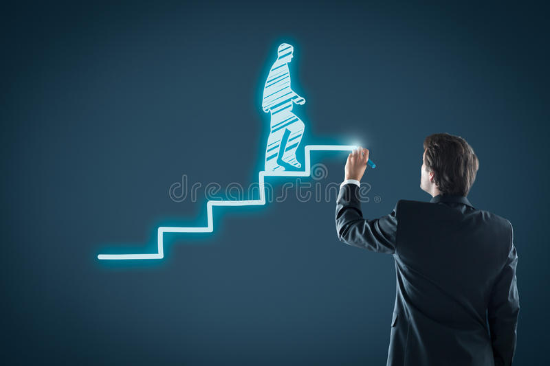 Personal development career royalty free stock photos