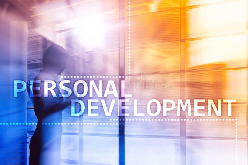 Personal development and growth concept of double exposure background.l. Personal development and growth concept of double exposure background royalty free stock photography
