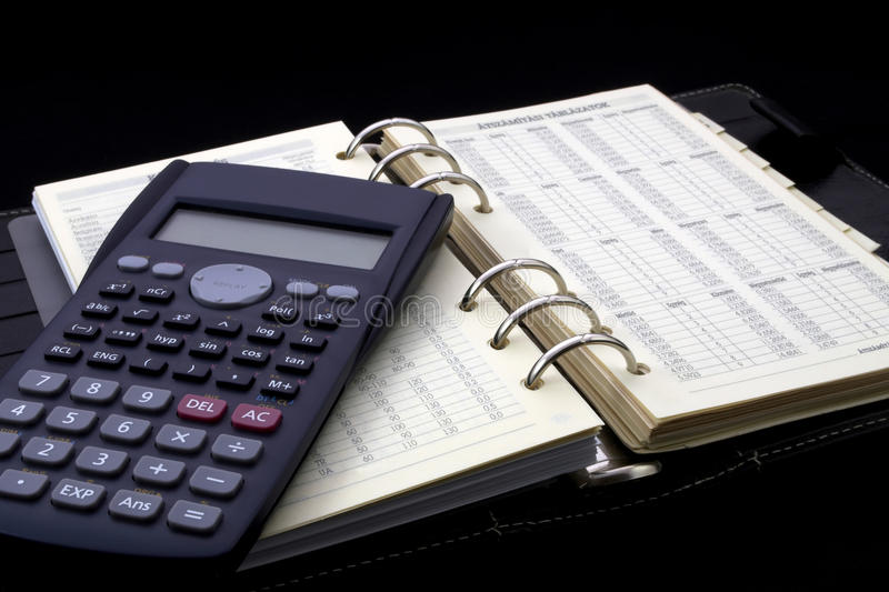Download Personal Diary And Calculator Stock Image - Image: 13143533