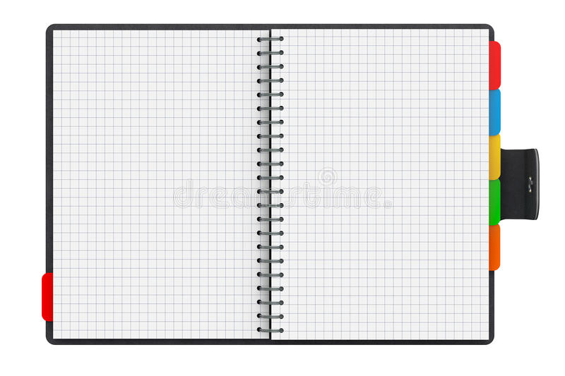 Personal Diary or Organiser Book with Blank Pages. 3d Rendering vector illustration