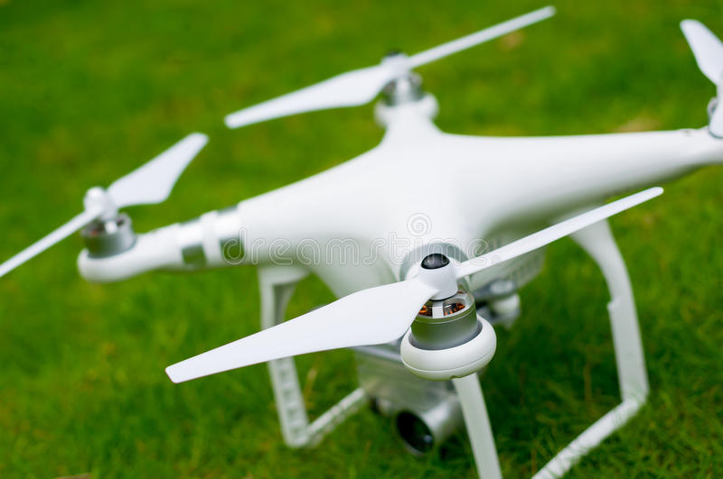 A personal drone on the grassland royalty free stock photography