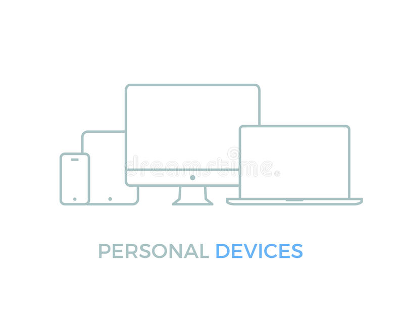 Personal Electronic Devices vector illustration