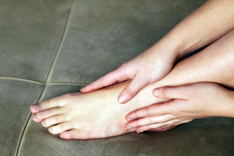 Personal foot massage royalty free stock image