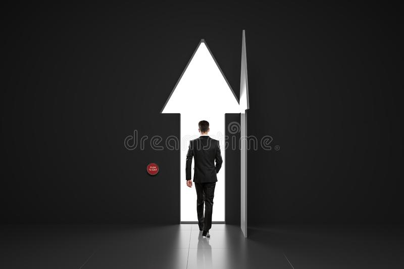 Personal growth concept with businessman stock image