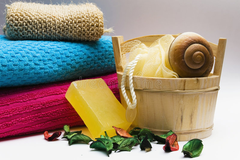 Personal hygiene items royalty free stock photo
