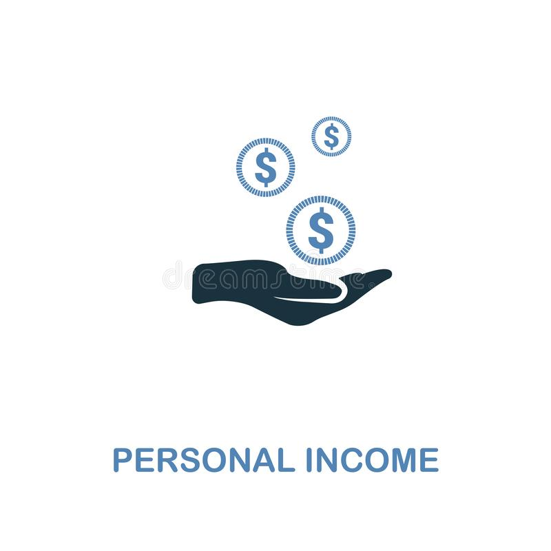 Personal Income icon in two colors design. Pixel perfect symbols from personal finance icon collection. UI and UX. Illustration of. Personal Income creative icon stock illustration