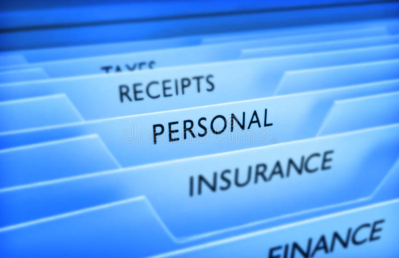 Personal Information File Data royalty free stock photos