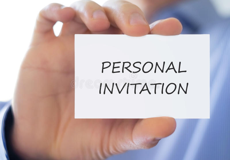 Personal Invitation royalty free stock images