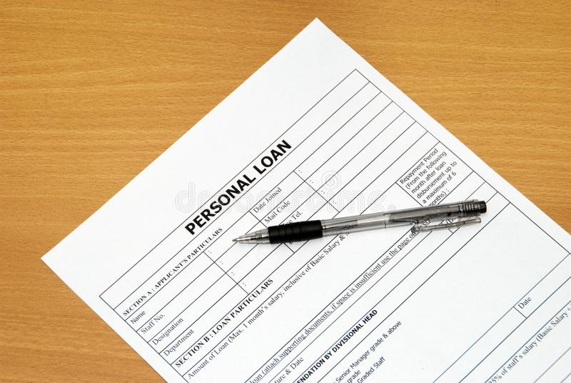 Personal loan stock photography