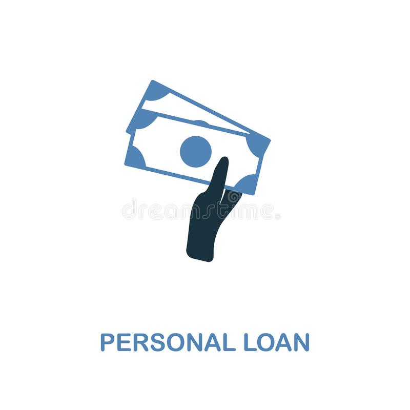 Personal Loan icon in two colors design. Pixel perfect symbols from personal finance icon collection. UI and UX. Illustration of p. Personal Loan creative icon stock illustration