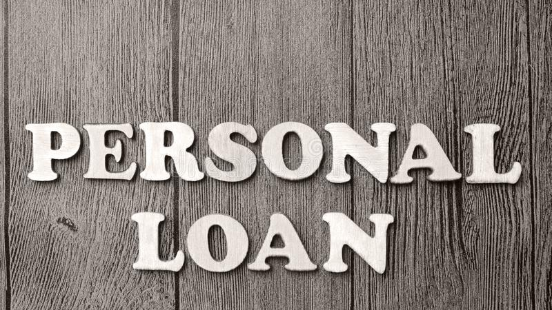 Personal Loan, Motivational Business Words Quotes Concept stock photography