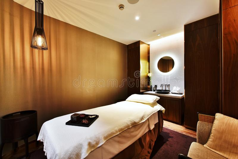 Health spa room in a star-rated hotel. Personal luxury spa.Additional services from the hotel stock photography